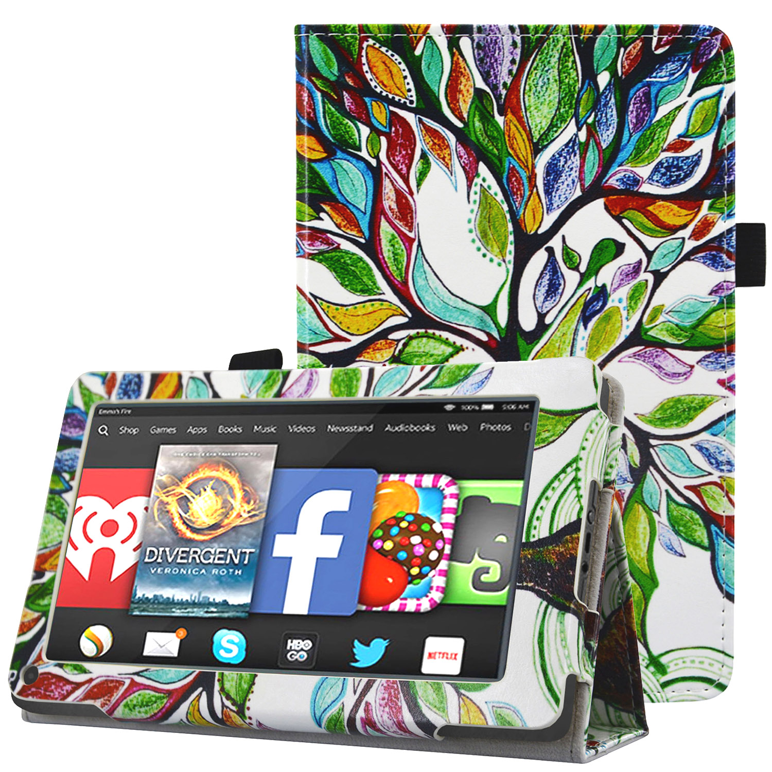 Kindle Fire 2011 Tablet Case - HOTCOOL Slim Folding Stand
